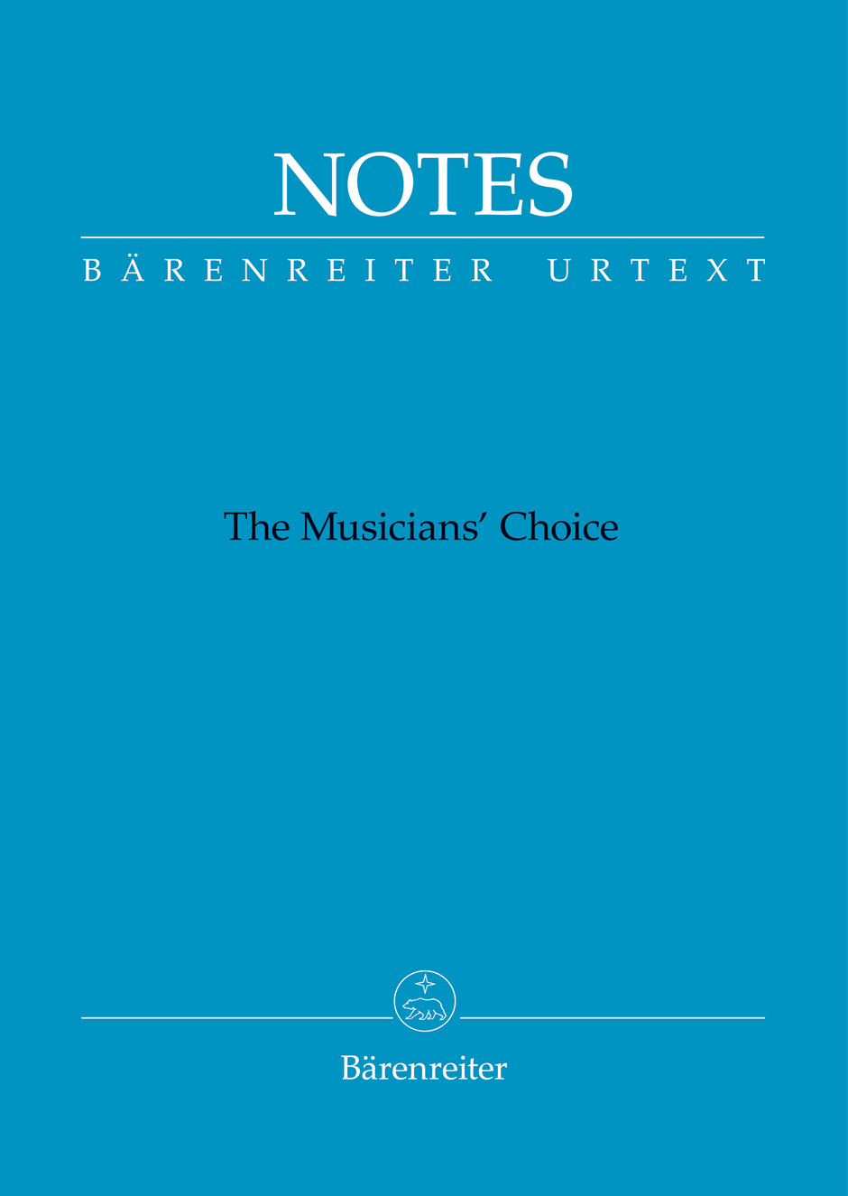 Bärenreiter Notes (modrý)