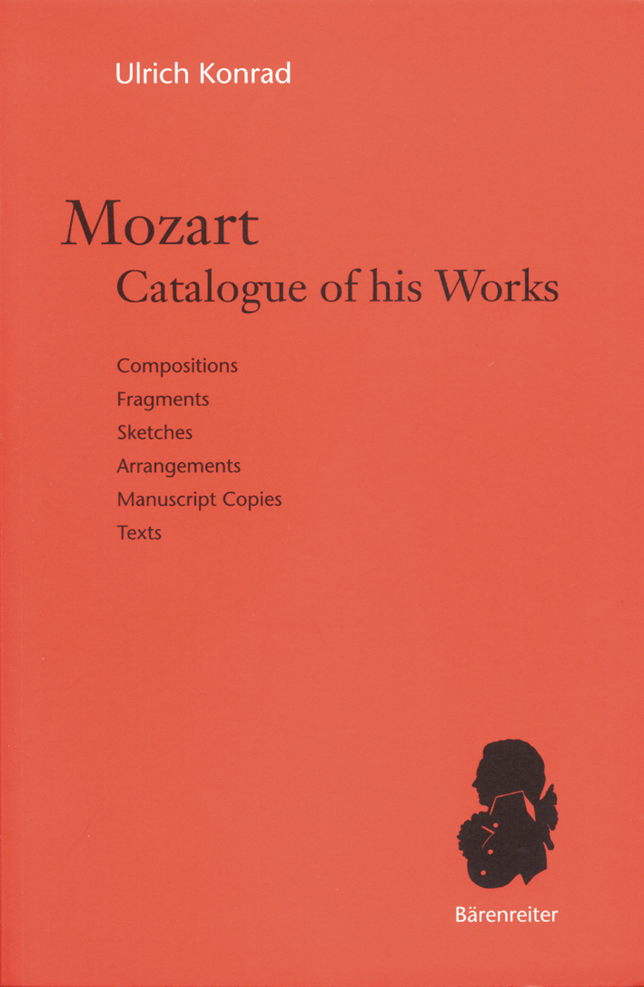 Mozart. Catalogue of his Works